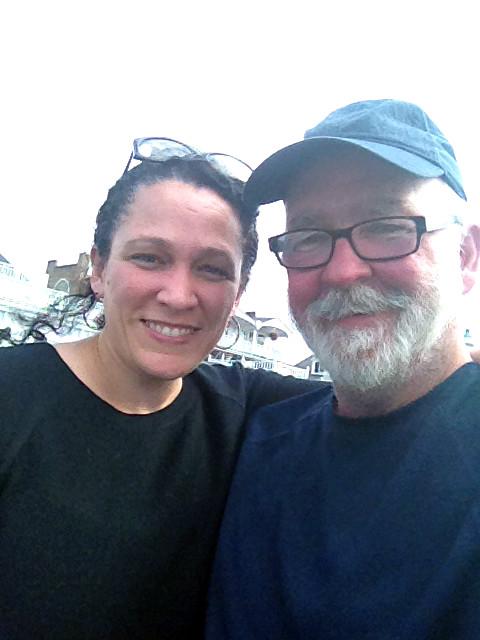 New friend Rachael, aka FuzzyGalore, in Port Jefferson, NY