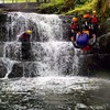 Gorge walking in the Brecon Beacons National Park in the famous waterfall country. Wales is the place for adventure