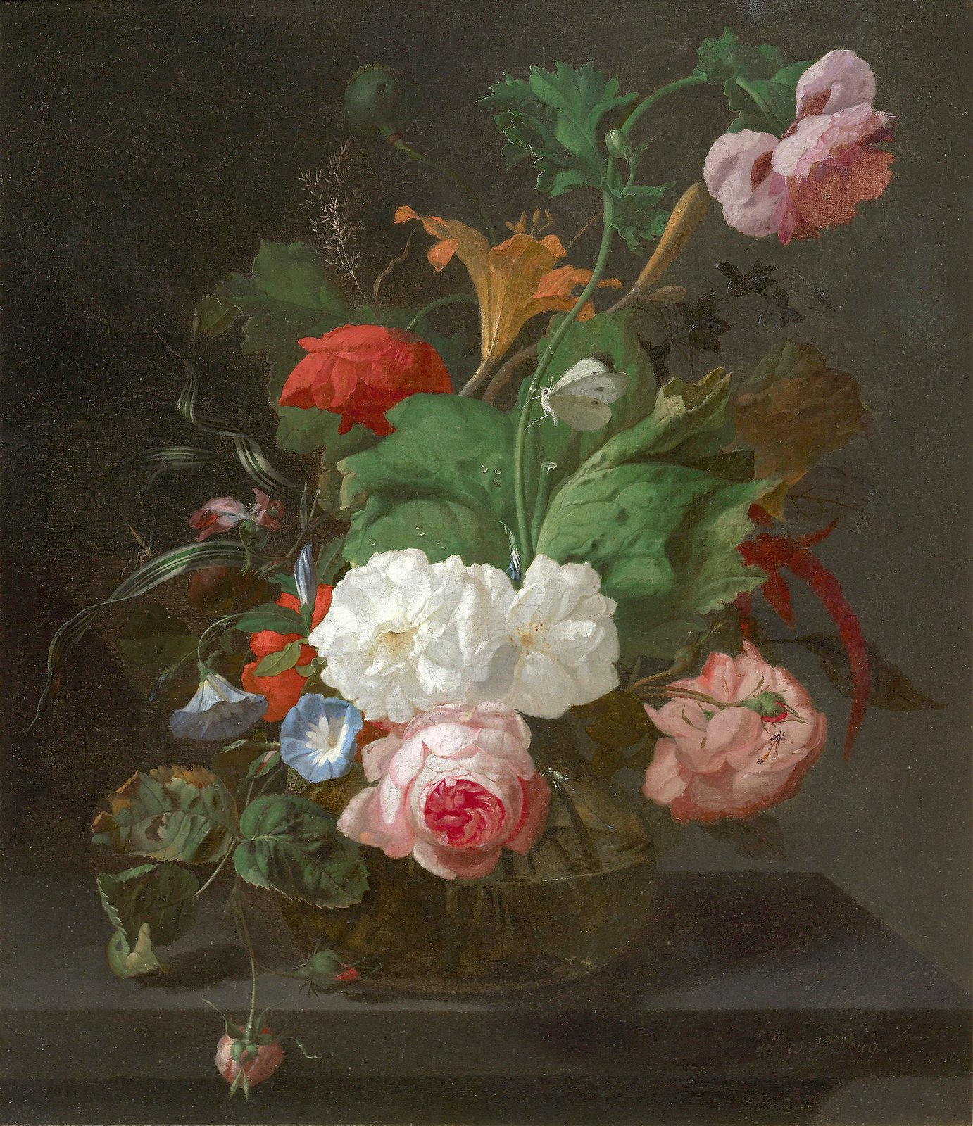 Summer Flowers in a Vase by Rachel Ruysch, 17th Century