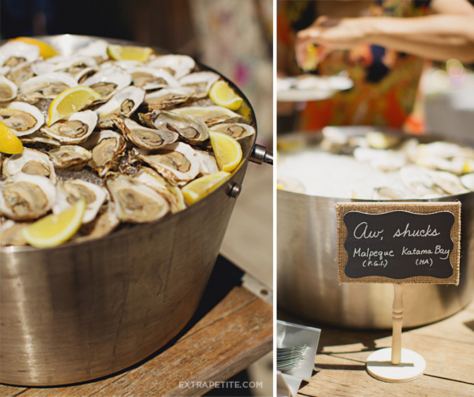 oysters bridal shower party