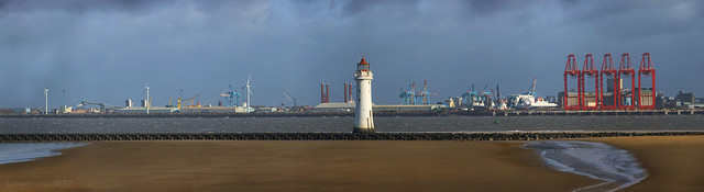 a stormy day at Perch Rock