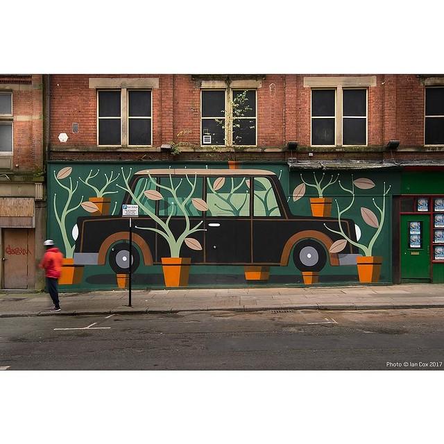Love this mural Painted in #Sheffield by Agostino Iacurci. #wallkandy #art #streetart #fb #f #t #p #agostinoiacurci