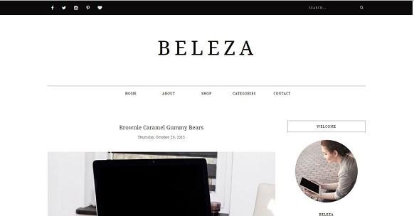 BELEZA – Blogger Template Responsive