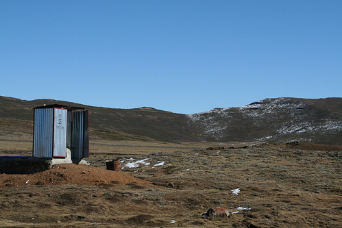 Latrines at the top of Sani Pass