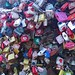 Seoul -  locks fastened to tower for good luck. by Blue Poppy