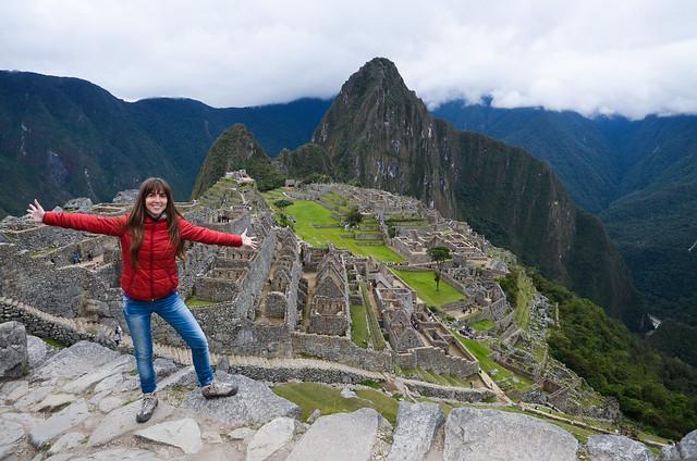 Frente a Machu Picchu