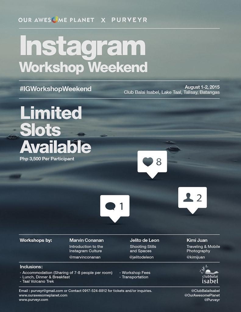 Instagram Workshop Weekend!