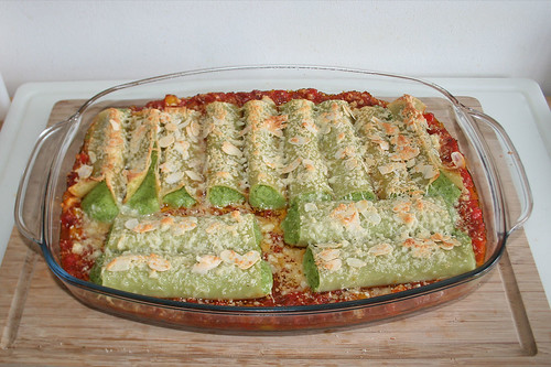 51 - Cannelloni with broccoli mascarpone stuffing - Finished baking / Cannlloni mit Brokkoli-Mascarpone-Füllung - Fertig gebacken