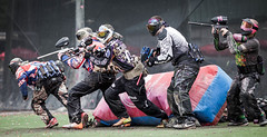 sport venue, shooting, sports, recreation, outdoor recreation, team sport, games, paintball, athlete,