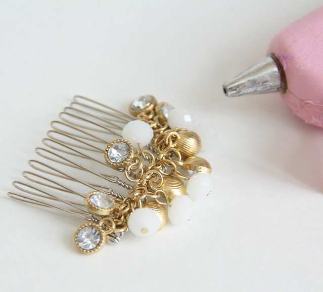 diy bridal hair comb