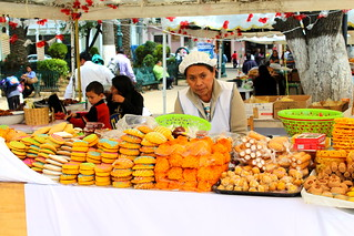 Lady selling sweets festival