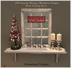 DD Snowy Winter Window Frame Vendor