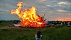 Skt Hans aften. Bonfire. Midsummer's Eve.