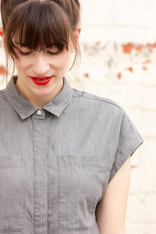Everlane Shirtdress, Red Lips