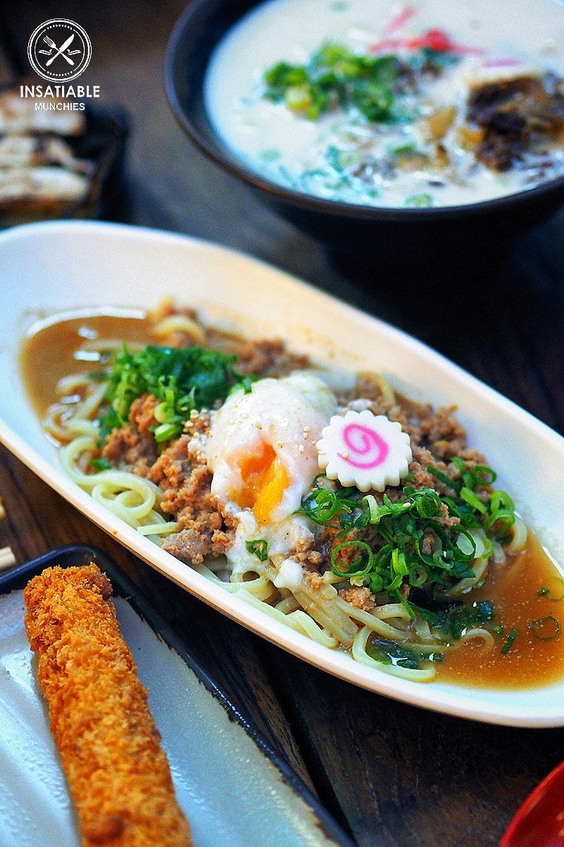 Sydney Food Blog Review of Tenkomori, Sydney CBD: Chilli Pork Tsukemen
