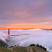Sunset Fog - Hawk Hill by davidyuweb