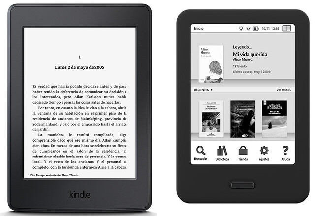 Kindle Paperwhite vs BQ Cervantes