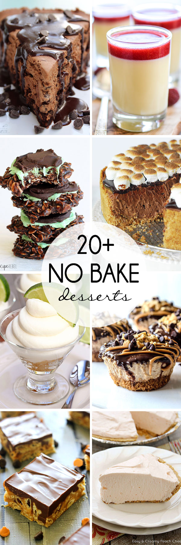 a round up of over twenty no bake desserts from some of the top food bloggers