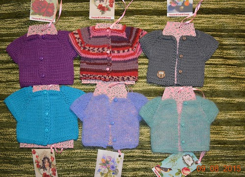 6 sweaters for MSD Kaye Wiggs