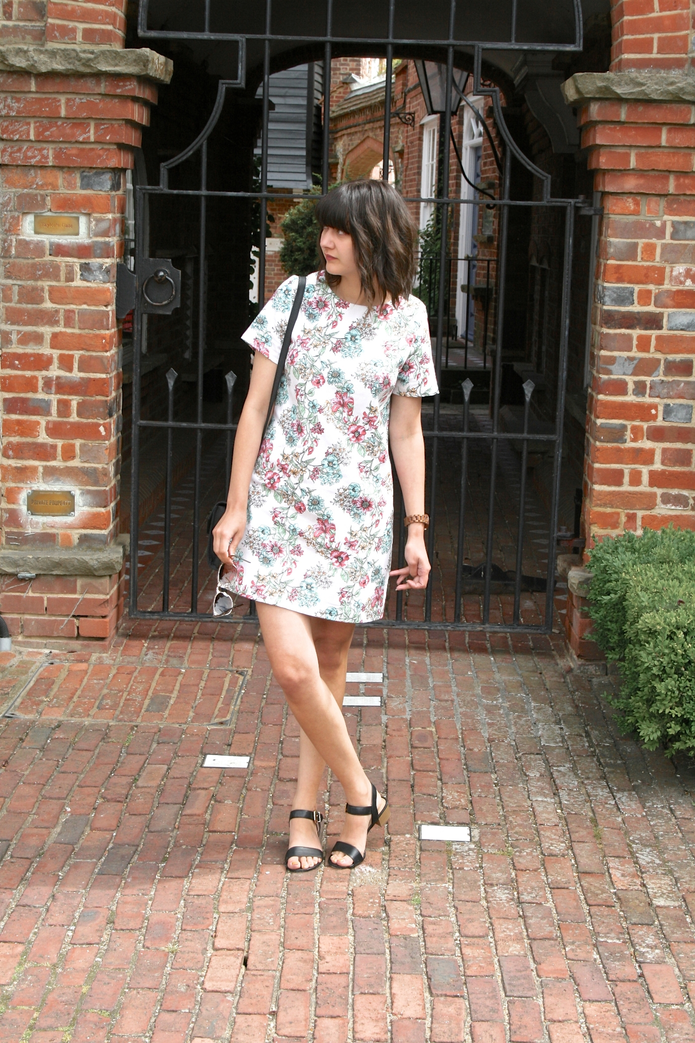 strappy sandals and summer florals