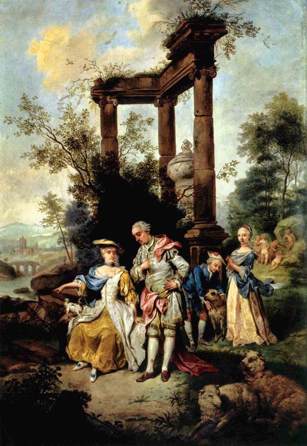 Johann Conrad Seekatz, Die Familie Goethe im Schäferkostüm, 1762