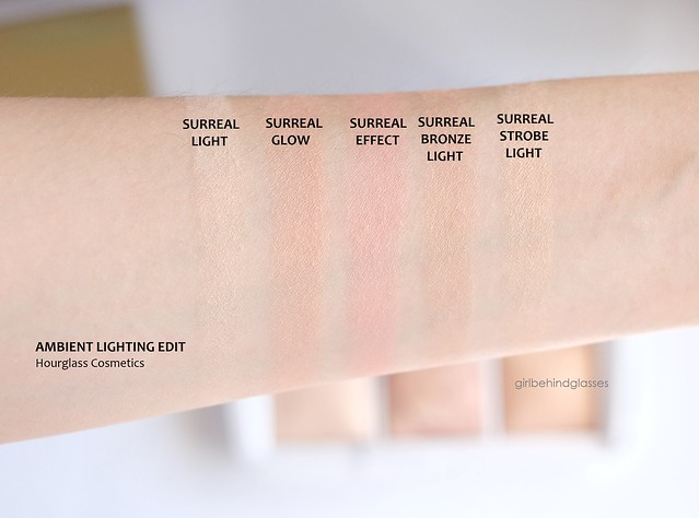 Hourglass Ambient Lighting Edit Surreal Light swatches