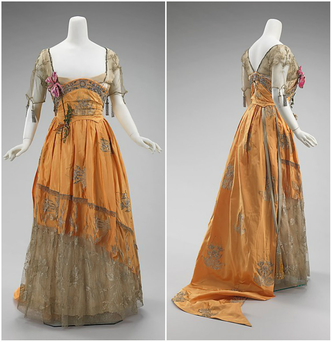 1916. Evening Dress. French. silk metal, rhinestones. metmuseum