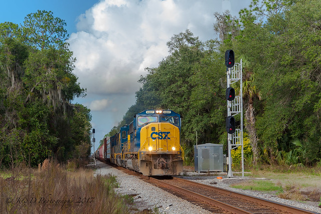 CSXT EMD SD70M #4687 @ Hawthorne, FL