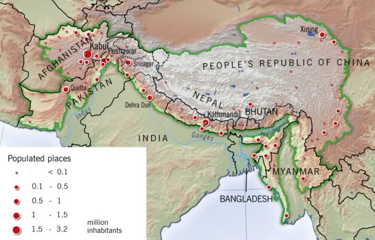 Cities in the Hindu Kush Himalaya region | GRID-Arendal on