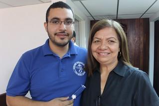 Sergio Maita and Elsy Valladares de Machado.