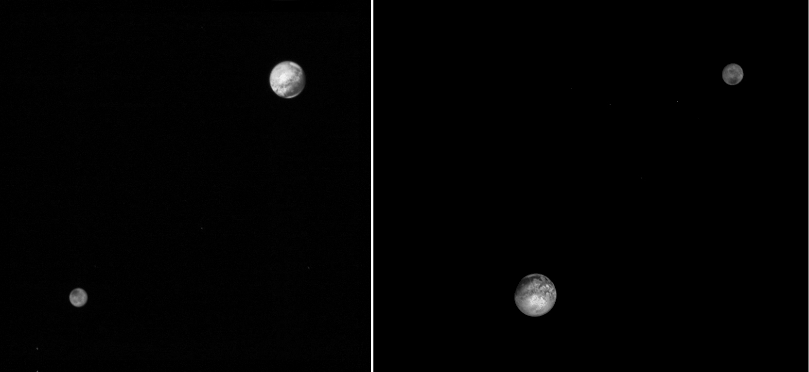 Pluto and Charon LORRI 2015-07-09