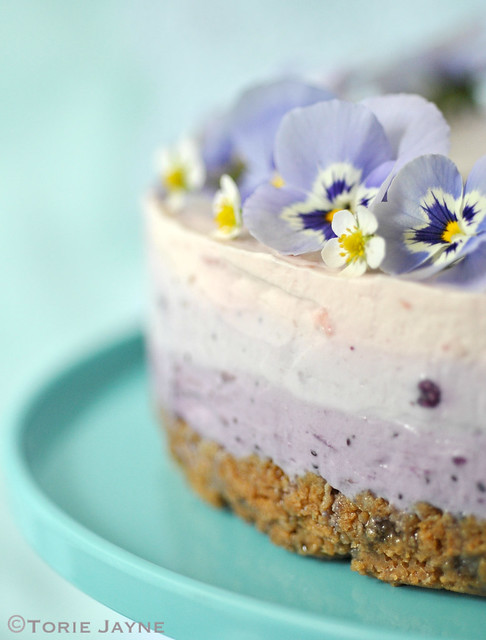 Gluten free blueberry & raspberry cheesecake 6