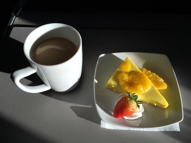 Pina Flan in First Class