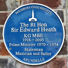 Photo of Edward Richard George Heath blue plaque