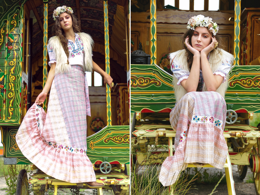 bohemian skirt, maxi, embroidered long skirt, gypsy wagon, traditional seventies styling