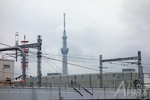 Tokyo Skytree from Minami Senju Station
