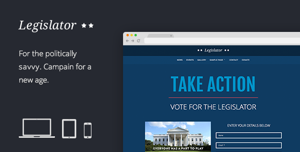 Legislator v1.7 – Political WordPress Campaign