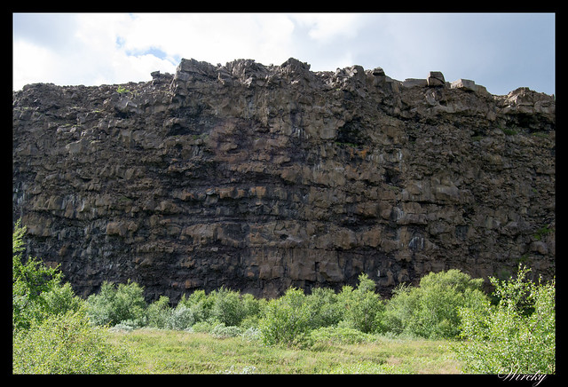 Dentro del cañón de Asbyrgi