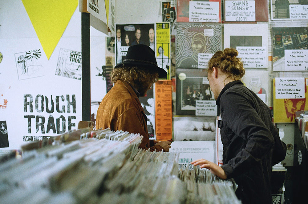 Record Shopping With Palace
