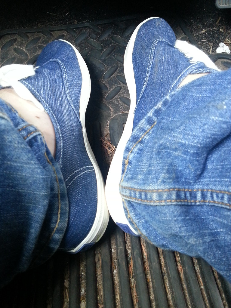 4c15a60d83 Driving in my denim keds