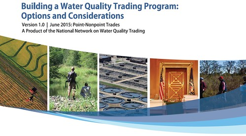 "The cover of the new document, ""Building a Water Quality Trading Program: Options and Considerations"""