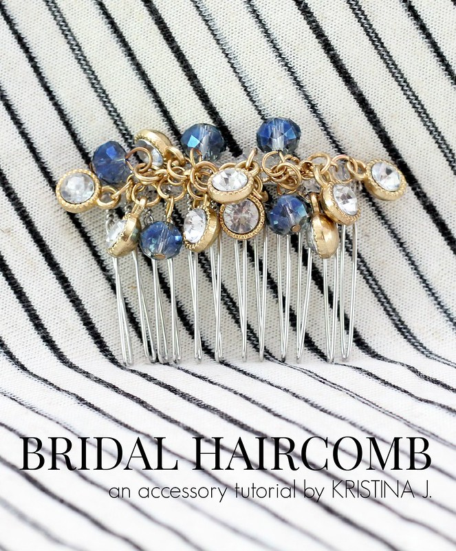 how to make a diy bridal haircomb via Kristina j blog