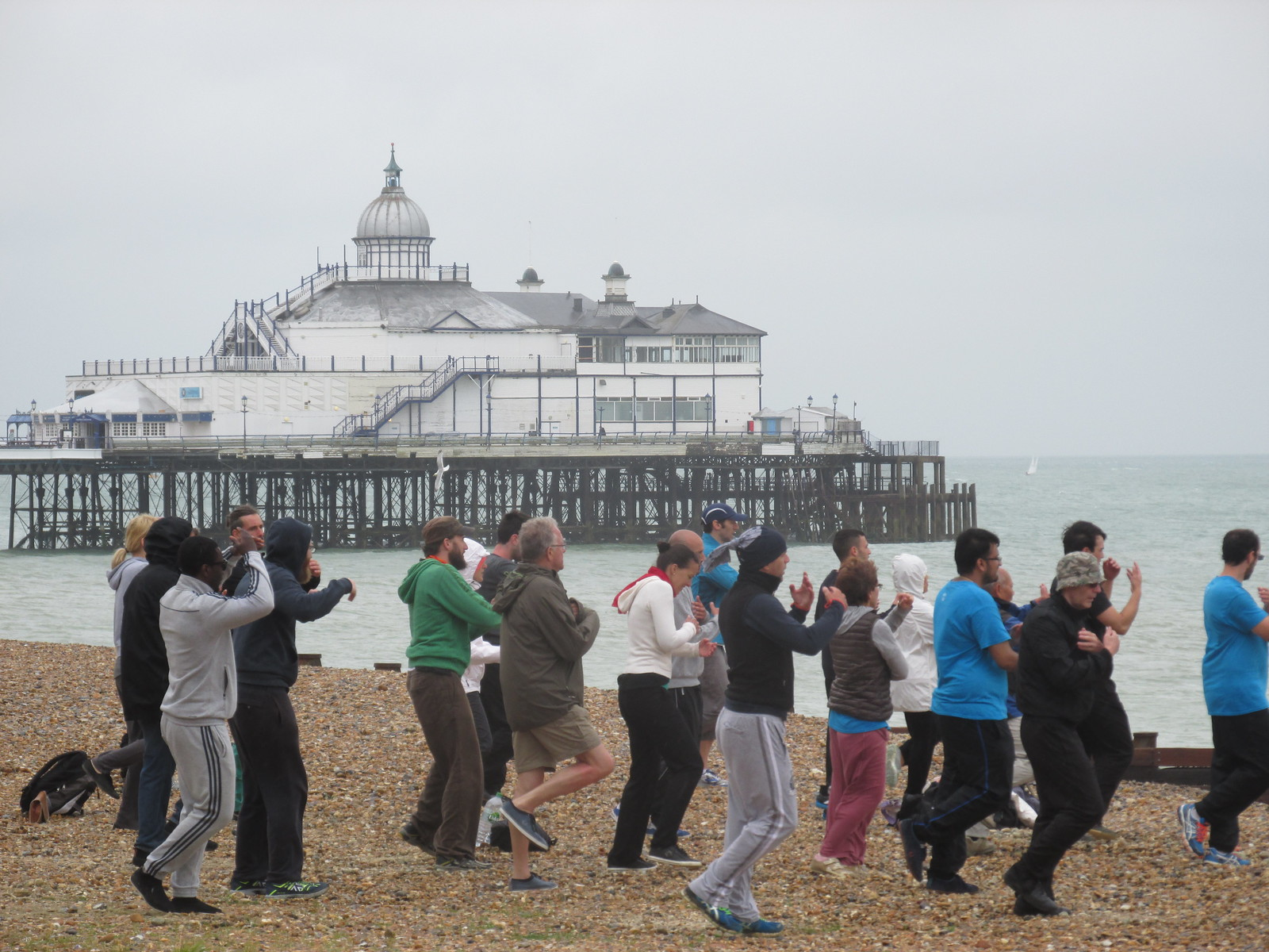 July 12, 2015: Eastbourne to East Dean Martial arts class on Eastbourne beach