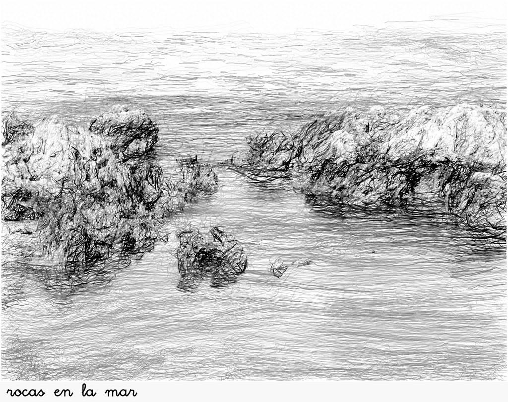 rocas en la mar