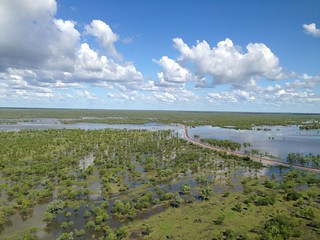 12 February, 2014 - 17:21 - Typical wet season flooding at Mutton Hole Wetland, just north of Normanton