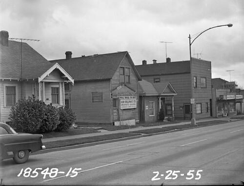 Aurora Avenue at 38th Street, 1955