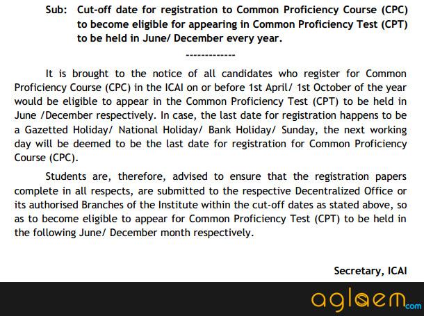 CA CPT Registration - Register online for CA CPT