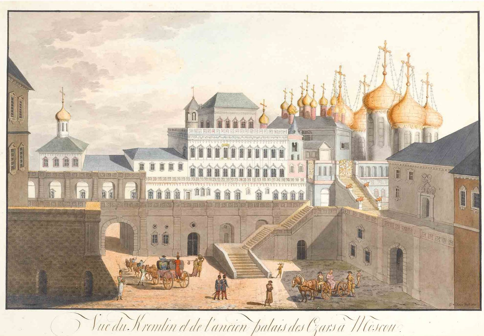 View of the Kremlin by Johanne Gottlieb Lohrer, 1813