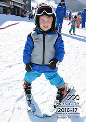 E's First Day Skiing