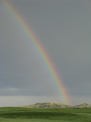 Rainbow Above the Butte